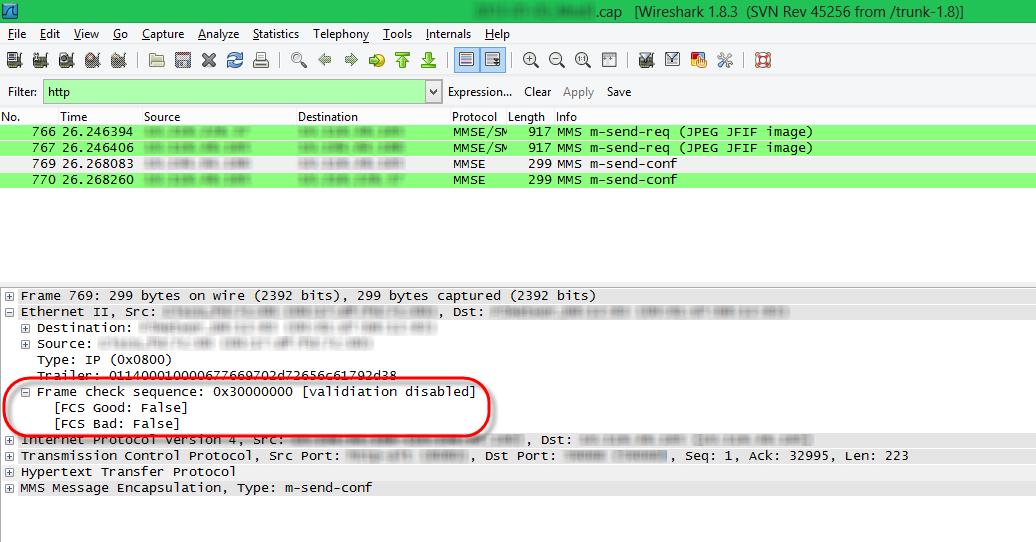 Wireshark Frame Check Sequence Error - WIRE Center •