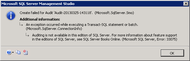 SQL-Audit-Fail-to-Create